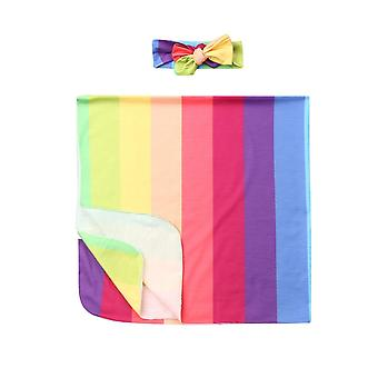 Newborn Baby Cotton Swaddle Wrap Blanket Flowers Print Sleeping Bag Warm