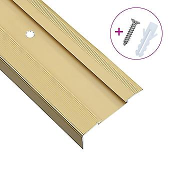 Stair edges in L-shape 15 pcs. aluminium 100 cm Golden