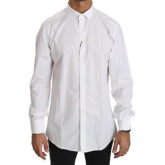 Dolce & Gabbana Valkoinen Puuvilla Pitkähihainen Top Shirt