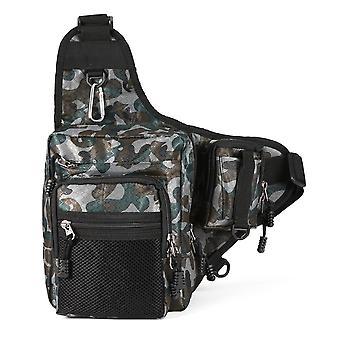 Sac de pêche imperméable à l'eau, sac de couverture de tige sac à dos de bobine de pêche de grande capacité