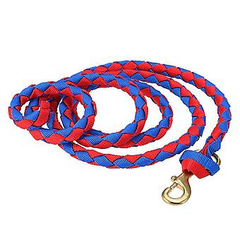 Braided Horse Leading Rope Halter With Brass Snap