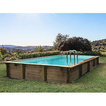 "Piscina rectangular de madera ""Murano"" - 12.20 x 6.20 x 1.44 m"