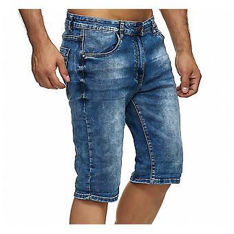 Men'apos;s Джинс Шорты 3/4 Растянуть Бермудские летние брюки, используемые Мыли брюки Slim