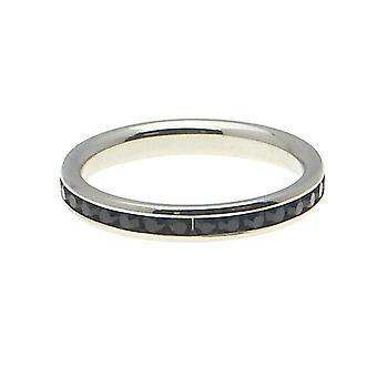 Friman rustfritt svart stål ring