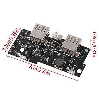 Diy Dual Usb Output Led 5v 2a Power Bank Charger Module Step Up Boost Charging