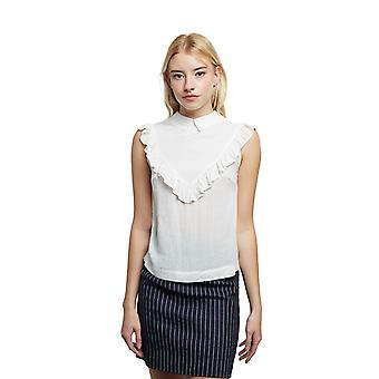 Louche Womens Roberte Sleeveless Jacquard Blouse White-14