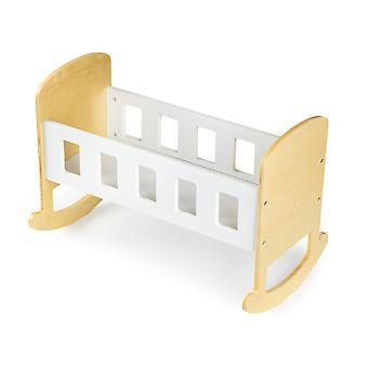 Dřevěná kolébka, postel pro panenky ECOTOYS
