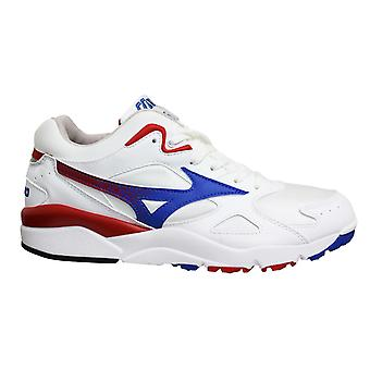 Mizuno Sport Style Sky Medal White Blue Lace Up Mens Running Trainers D1GA192427
