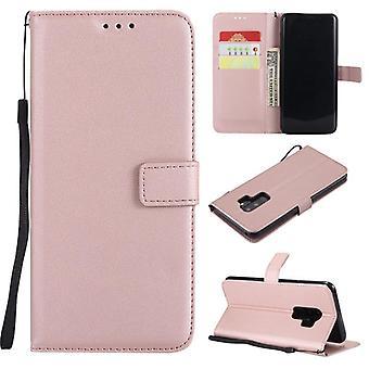 lær telefonveske til Samsung - flip lommebok kortholder deksel