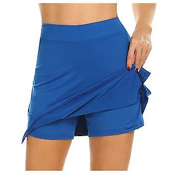 女性スコートクイックドライスポーツバドミントンパンツスカート着用スカート軽量パンツ