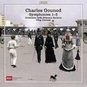 Gounod / Caetani / Orch Della Svizzera Italiana - Syms 1-3 [CD] USA import