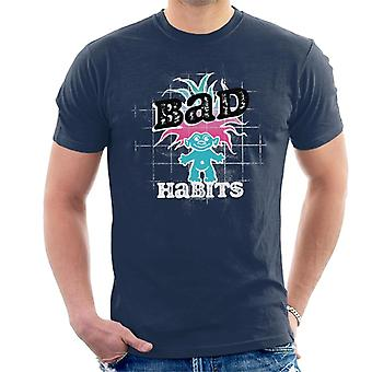 Trolls Bad Habits Pink And Blue Gradient Hair Men's T-Shirt