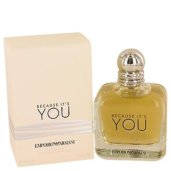 Because It's You Eau De Parfum Spray By Giorgio Armani 3.4 oz Eau De Parfum Spray