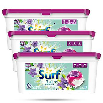 3x di 32 lavaggi Estratti di erbe da surf 3in1 Capsula di lavaggio 679g, 96 capsule