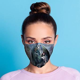 Lisa parker beschermer van magische draak en eenhoorn gezichtsbedekking - groot