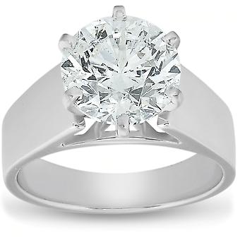 2 Ct Diamond Solitaire Engagement Ring 14k Wit Goud
