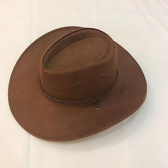 Cowboy Hat Spring Summer Man Caps Shade Horse Riding Outdoor Solid Color High