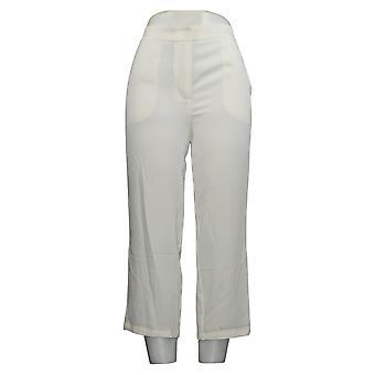 Linea de Louis Dell'Olio Women's Pants 2 Petite Zip-Front Crop White A349648