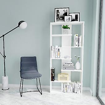 Libreria Bora Colore Bianco in Truciolare Melaminico, L70xP22xA156,6 cm