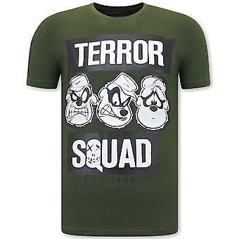 Print T-shirt - Beagle Boys Squad - Green