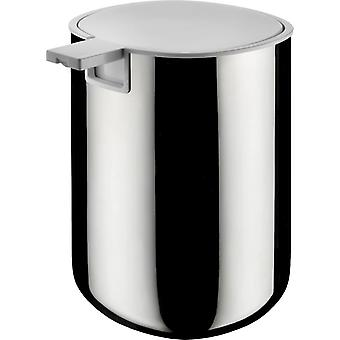 Alessi PL05 Birillo Liquid Soap Dispenser in 18/10 Stainless Steel Mirror Polished, White