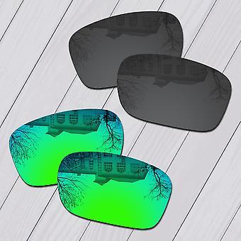 Coppie Polarizzate di nero e verde smeraldo