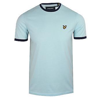 Lyle & scott mens deck blue ringer t-shirt