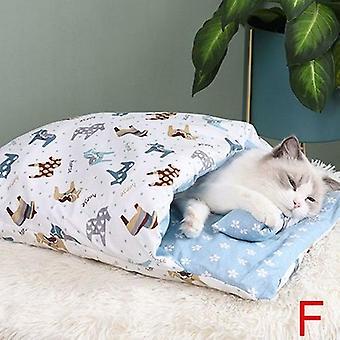 Kattenslaapzak Verwijderbare Winter Warme Kattenhuis Huisdier Bed