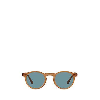 Oliver Peoples OV5456SU semi matte amber tortoise unisex sunglasses
