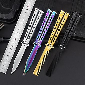 Steel Training Folding Knife
