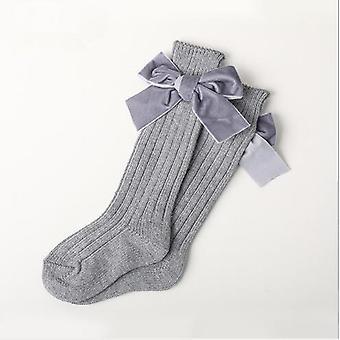 Socken dicke Linie stricken Tube Socken warm Ecotton Fashion Samt Schleife Gestapelt