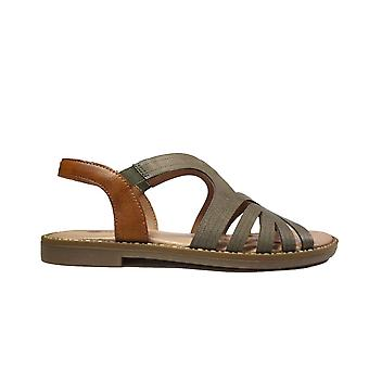 Remonte D3659-54 Green Leather Womens Sling Back Sandals
