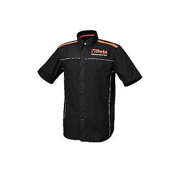 Beta 095100000 9510 XS X/små kortärmade skjorta 100% bomull svart Poplin