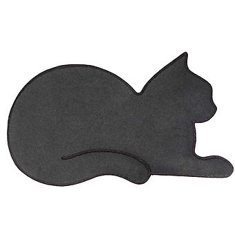 door mat cat 70 x 42 cm polyester/PVC black