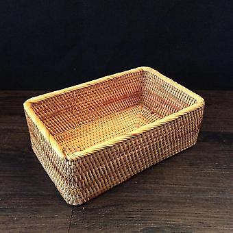 Hand-woven rattan storage baskets