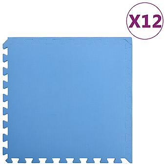 vidaXL Floor mats 12 pcs. 4.32 m2 EVA foam Blue