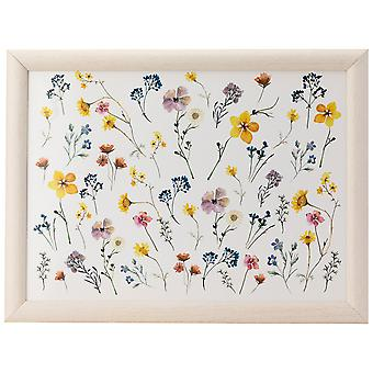 English Tableware Co. Pressed Flowers Lap Tray