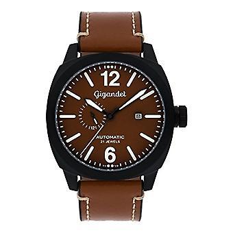 Gigandet G16-001 - Men's watch, leather strap, color: brown