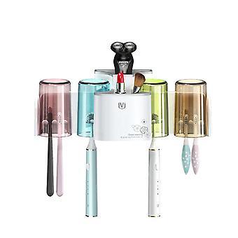 Järjestäjä minimalistinen sähkö aikuiset hammasharja haltija lapset accessori kylpyhuone työkaluja