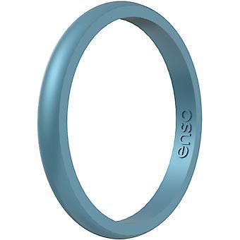 Enso Rings Halo Birthstone Series Silicone Ring - Topacio Azul
