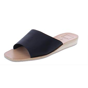 Dolce Vita Womens Hildy Suede Open Toe Casual Slide Sandals