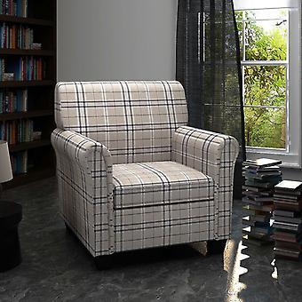 vidaXL fauteuil met zitbekleding crèmekleurige stof