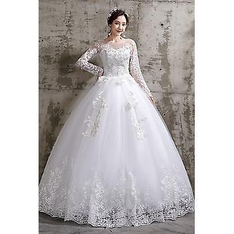Uuden tyylin Bride Plus Size Kukka Hääpuvut