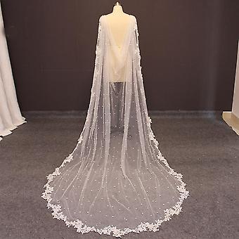 Jaqueta de noiva longa de casamento de alta qualidade