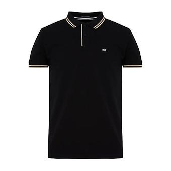 Weekend Offender Viviero Tipped Polo - Black