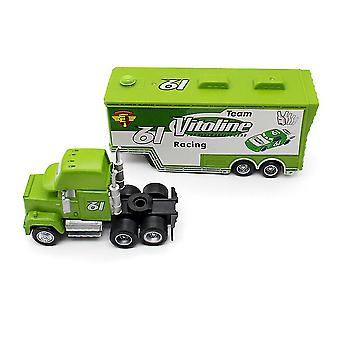 New Cars Trailer Vitoline Race Car No 61 Container Truck Alloy Car Model Children's Toys ES12875
