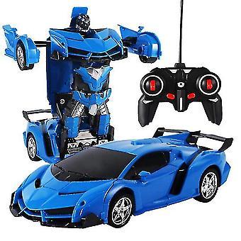 لتشوه 360 درجة روبوت 2.4 غيغاهرتز عن بعد تشوه سيارة روبوت الأطفال سيارة اللعبة| RC روبوت (الأزرق) WS17983