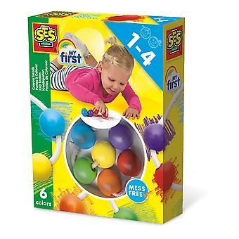 SES Creative - Lasten ensimmäinen värikynä-jalkaosasetti (monivärinen)