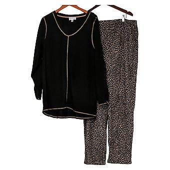 Stan Herman Set Micro Fleece Pajama Set Black A294389