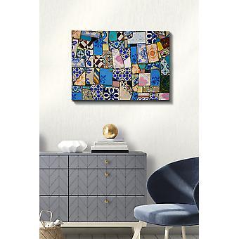 Kanvas Tablo (50 x 70) - 168 Flerfärgade dekorativa dukmålning